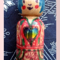 Tottie and the spool knitted doodle doll