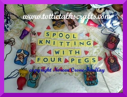 How To Spool Knit With 4 Pegs And Cast Off Tottie Talks Crafts Blog