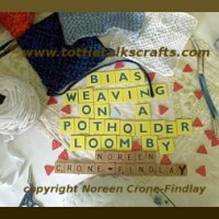 How to weave a square on the bias on the potholder loom