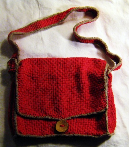 Red Heart Free Patterns Knitting : Free pattern for Courier Bag woven on the Martha Stewart loom Tottie Talks ...