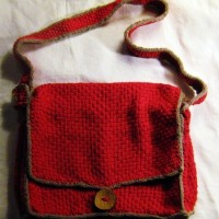 Free pattern for Courier Bag woven on the Martha Stewart loom