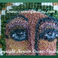 One of a kind woven art doll-Green Empress and a mini studio tour