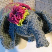 Free pattern for a woven elephant
