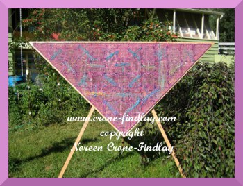 triangle-loom-dragonfly-shawl-copyright Noreen Crone-Findlay