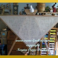 4 panel blanket woven on the triangle loom