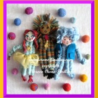 Delightful dolls woven with 4 weaving sticks