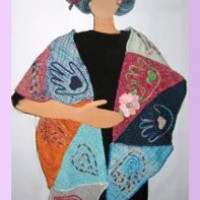 A gift of love-A heart and hands scarf