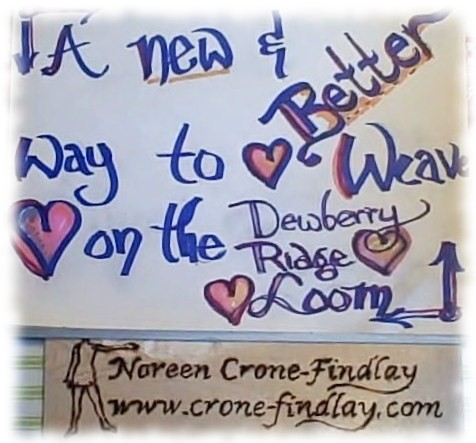A new & better way to weave a heart on the Dewberry Ridge Heart Loom by Noreen Crone-Findlay (c)