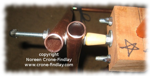 Copper pipe stand for copper pipe tapestry loom | Tottie Talks
