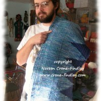 Weaving and sewing a Saori wedding vest- 1