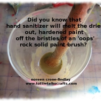 How to save a hardened paintbrush