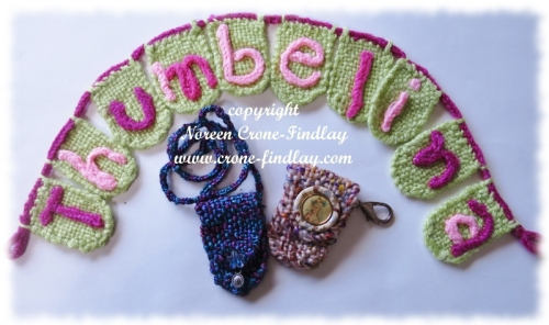 Amulet bag with necklace cord, Click on pouch with lobster claw fitting to clip to keychains, purse, pocket etc.