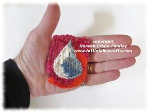 Tiny Tapestry Diary of a prayer for rain  woven on the Thumbelina loom.