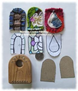 Tiny Tapestry Diary pieces woven on the Thumbelina loom.