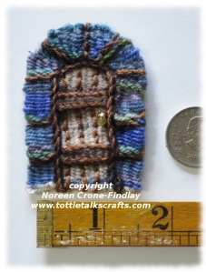 Tiny Tapestry Diary of a Fairy Door to remember a lovely dream,  woven on the Thumbelina loom.