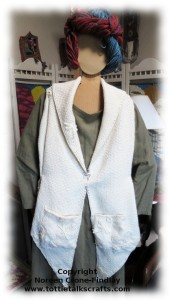 Bias weave vest by Noreen Crone-Findlay