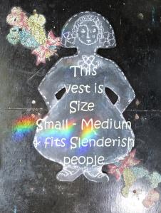 Tri Loom Vest Title sizes