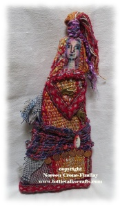 One of a kind art doll by Noreen Crone-Findlay www.tottietalkscrafts.com