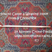 How to Carve a Weaving Hook from a Chopstick