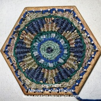 Hexagon Loom Weaving- Mandala- Tapestry in a circle