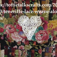 Teneriffe Lace Weave Along - Project One- The Heart