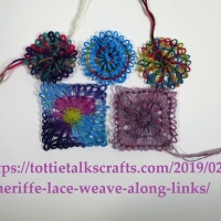 Teneriffe Lace Weave Along- How to Add Color to Teneriffe Lace