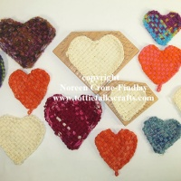 Wearing my heart on my sleeve- 4 and 6 inch Heart Looms