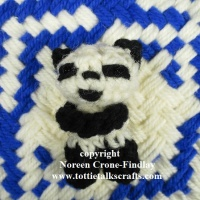 Crocheted Panda Blessing Bear