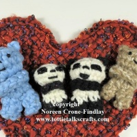 Comfort or Blessing or Pocket or Prayer Bears- Crocheted  Knitted and Woven