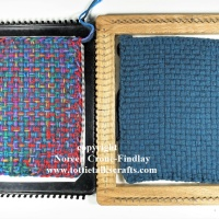 How to weave with yarn on the 3 inch and 9 inch potholder looms