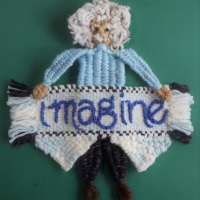 """Imagine"""" Banner Weave Along: PART SIX:  How to assemble the banner"""